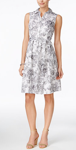macys-floral-shirtdress